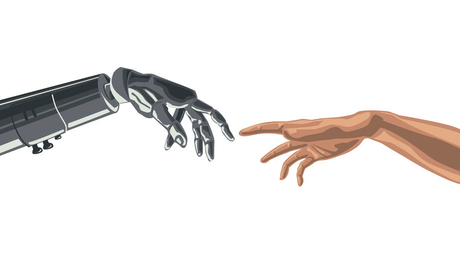 AI and Humans working together 77920798_s