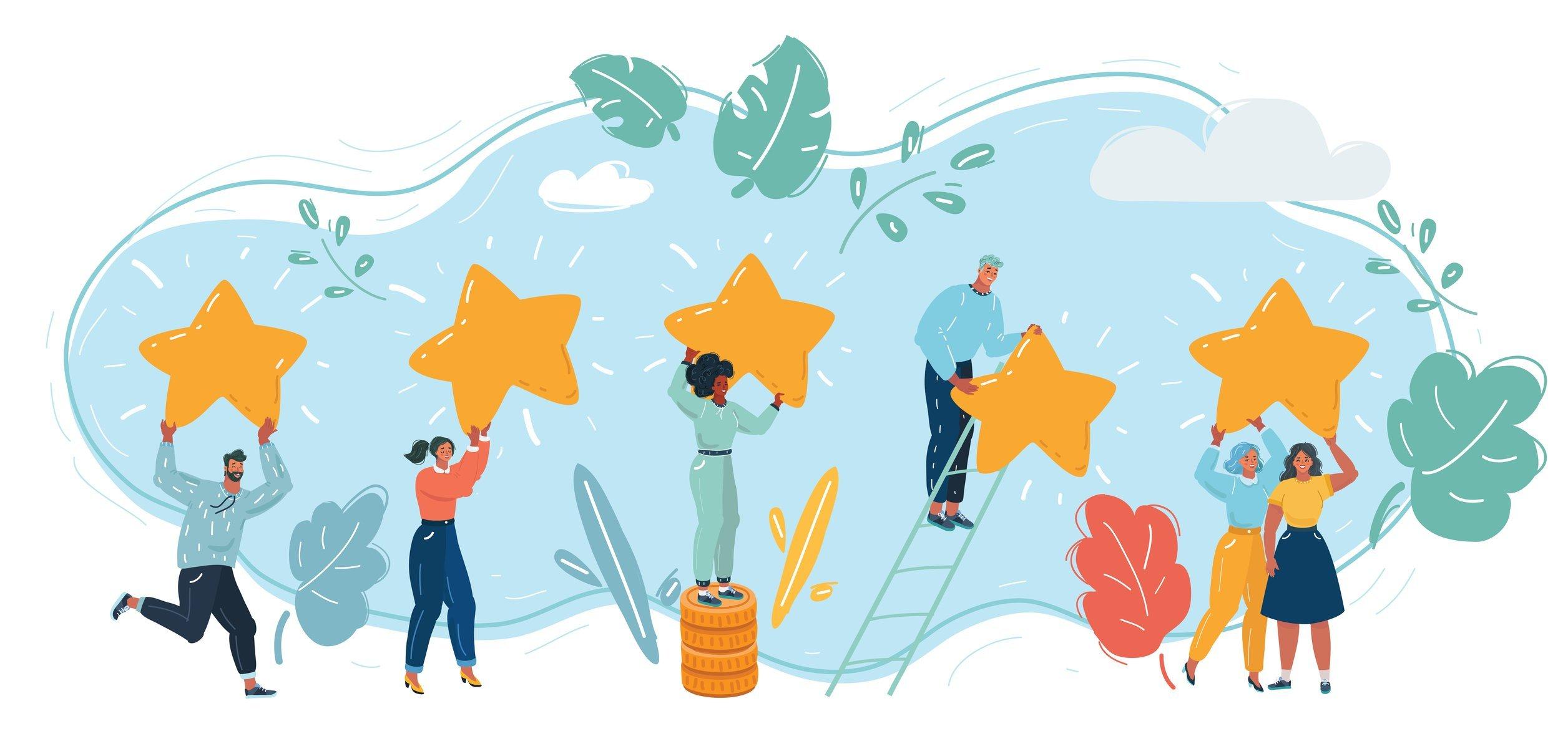 Celebrating Customer Service Successes illustration
