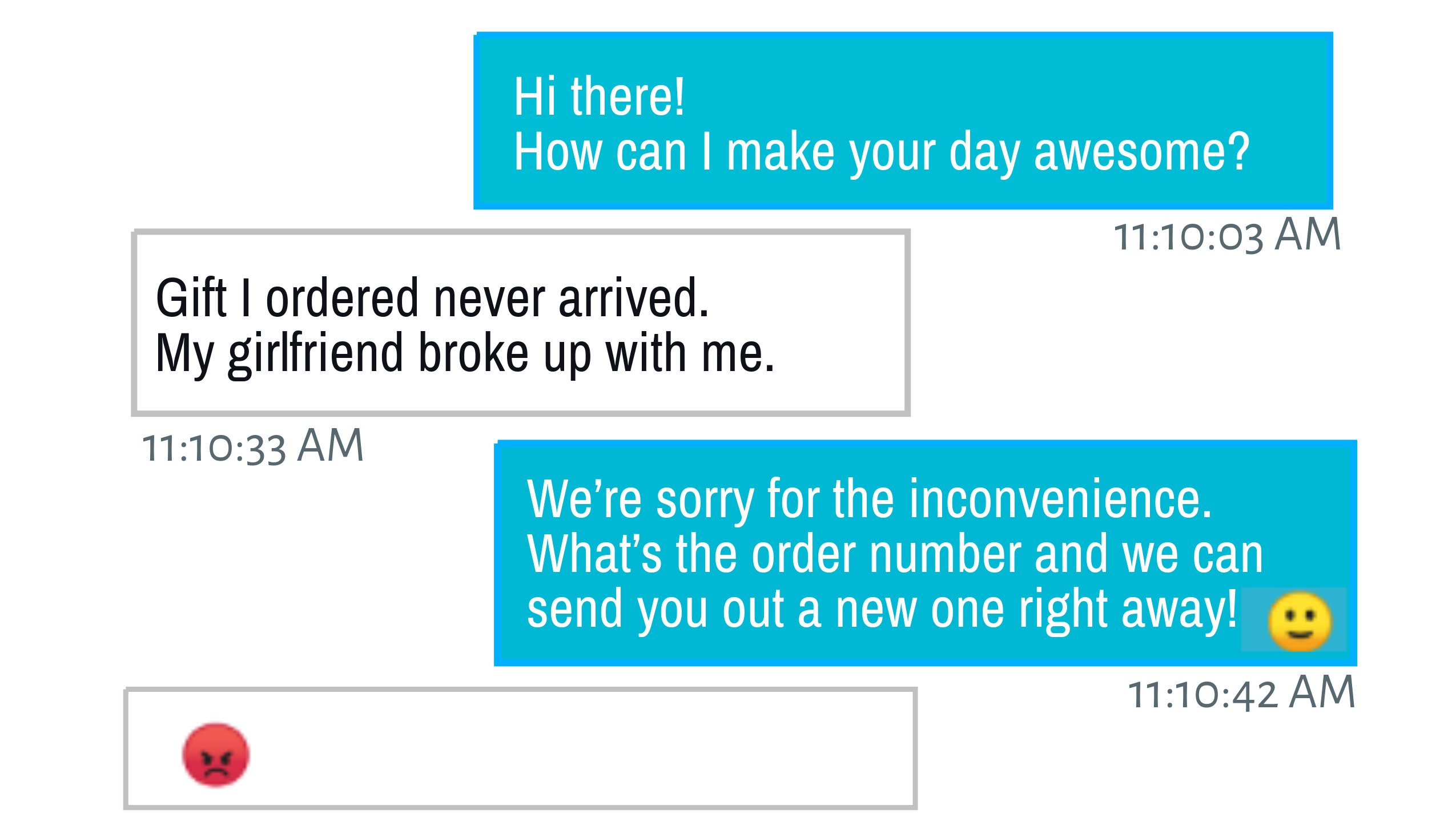 Customer service chat